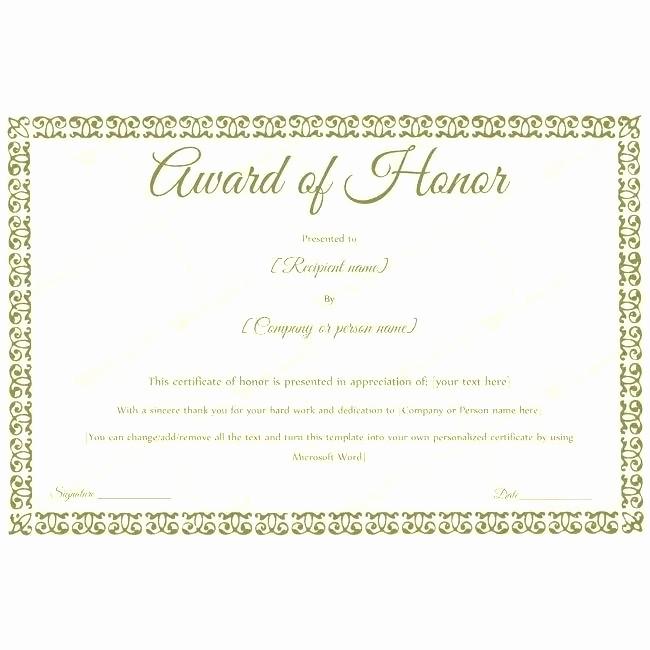 Free Honor Roll Certificate Template Elegant Certificate Honor Roll Free Template Appreciation