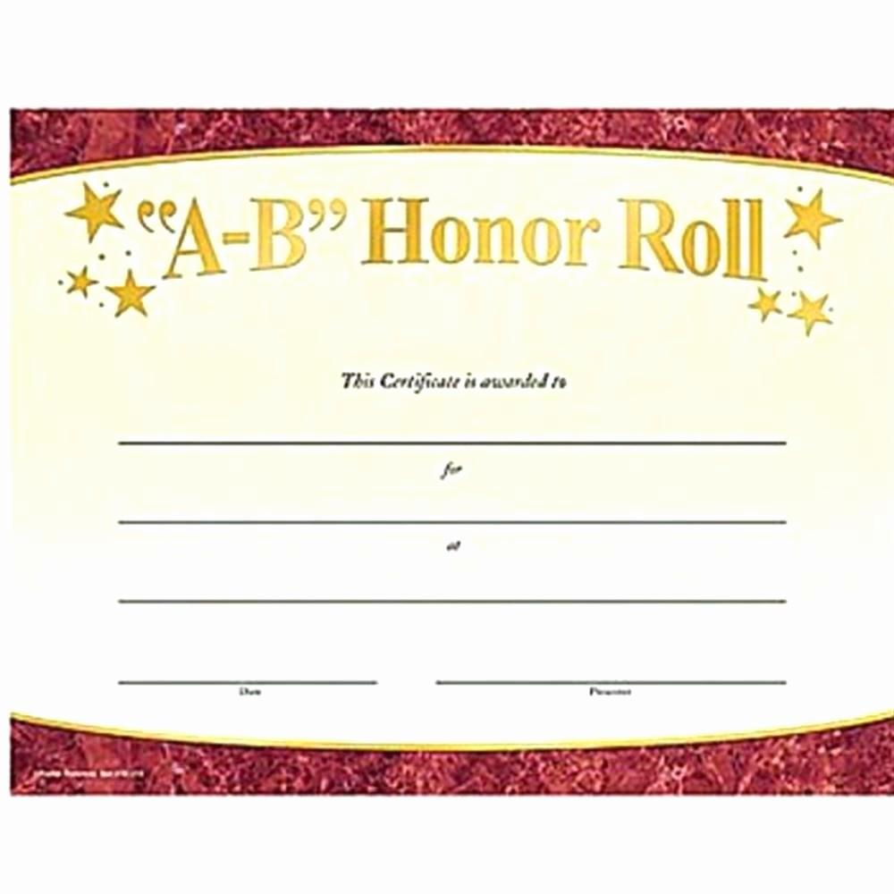 Free Honor Roll Certificate Template Elegant Template Honor Certificate Template