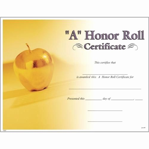 Free Honor Roll Certificate Template Fresh 10 Best Of Honor Roll Certificates Free Printable