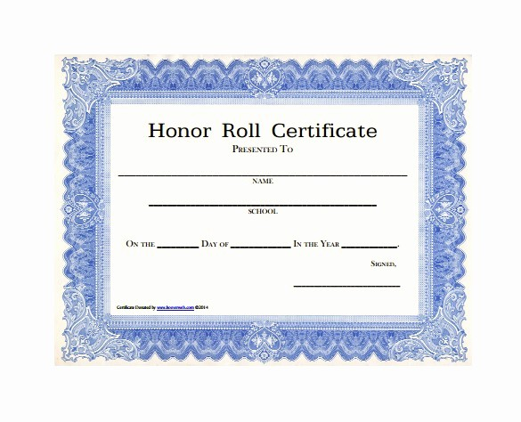 Free Honor Roll Certificate Template Fresh Free Honor Roll Certificate Template
