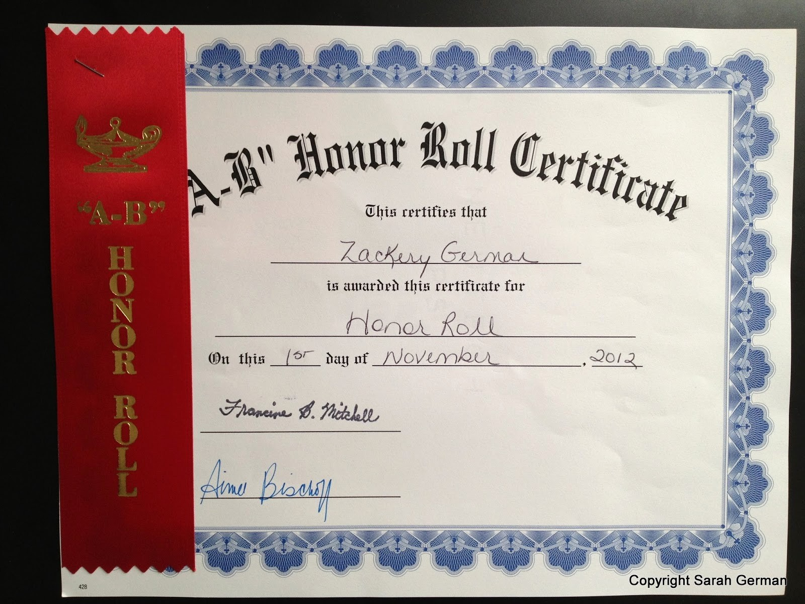 Free Honor Roll Certificate Template Inspirational A Brit In America Honor Roll & Terrific Kids Awards Ceremony