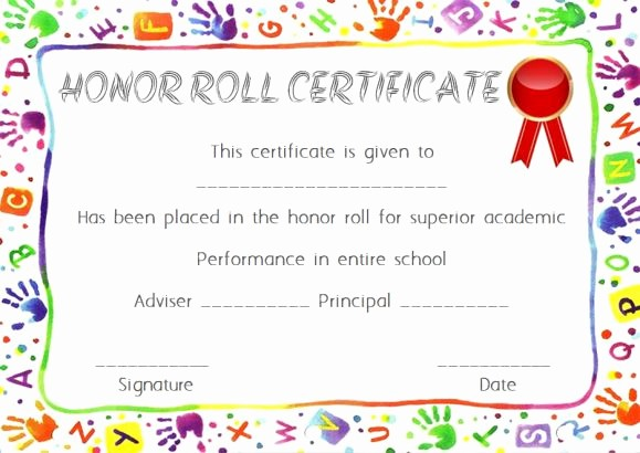 Free Honor Roll Certificate Template Inspirational Honor Roll Certificates 12 Templates to Reward Teachers