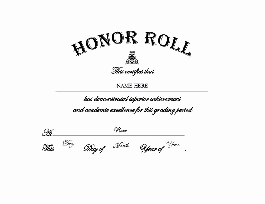 Free Honor Roll Certificate Template Luxury Free Printable Honor Roll Certificates Free Principals