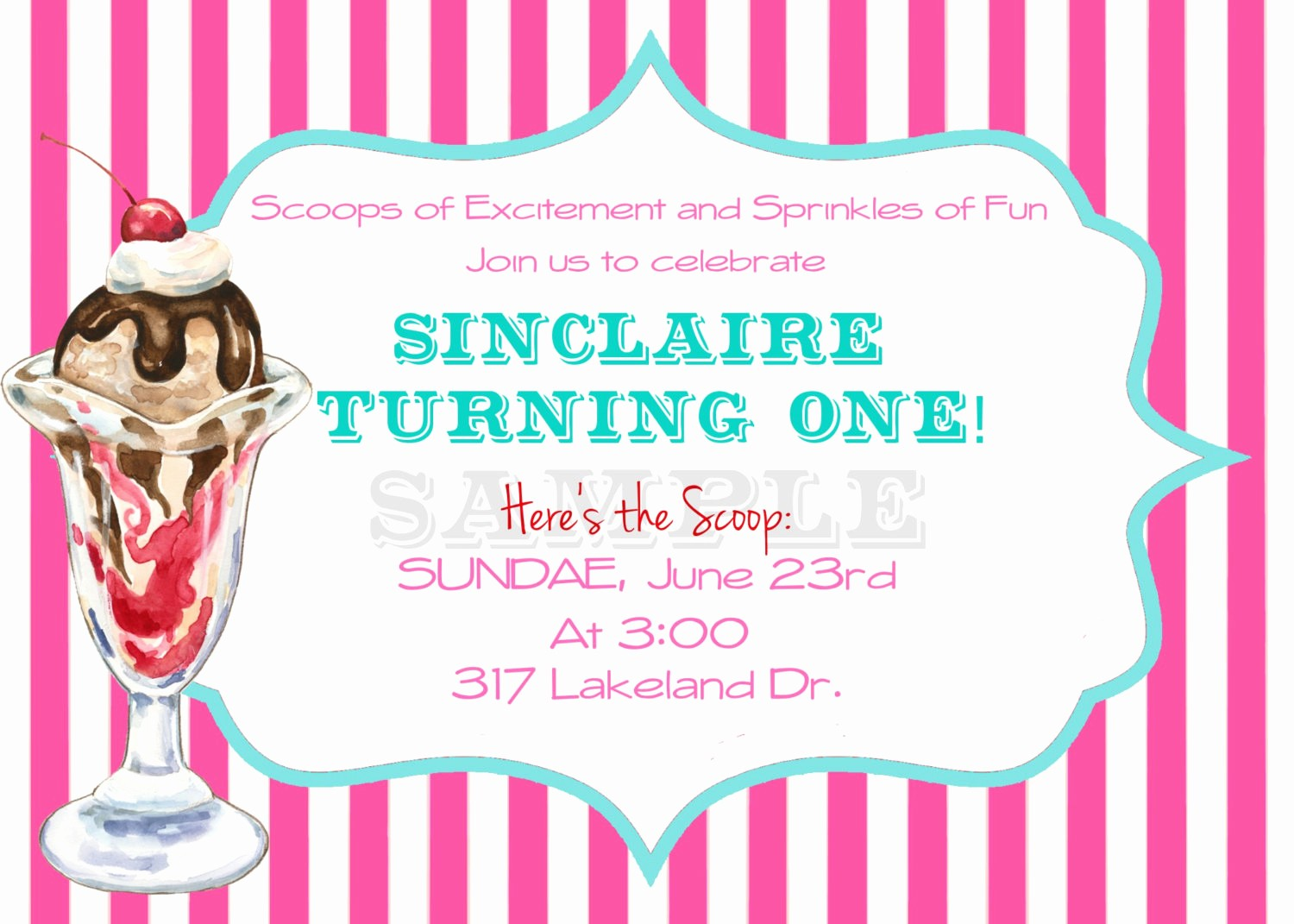 Free Ice Cream social Template Awesome Ice Cream social Invitation