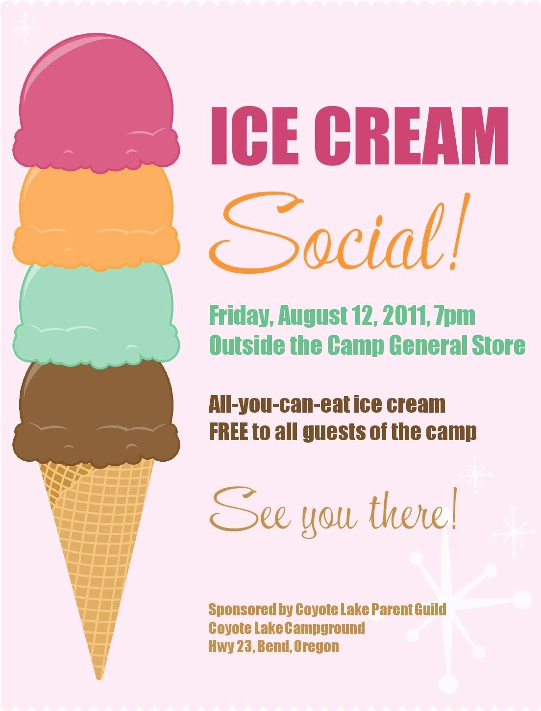 Free Ice Cream social Template Best Of Ice Cream social Free Printable Pta Ideas