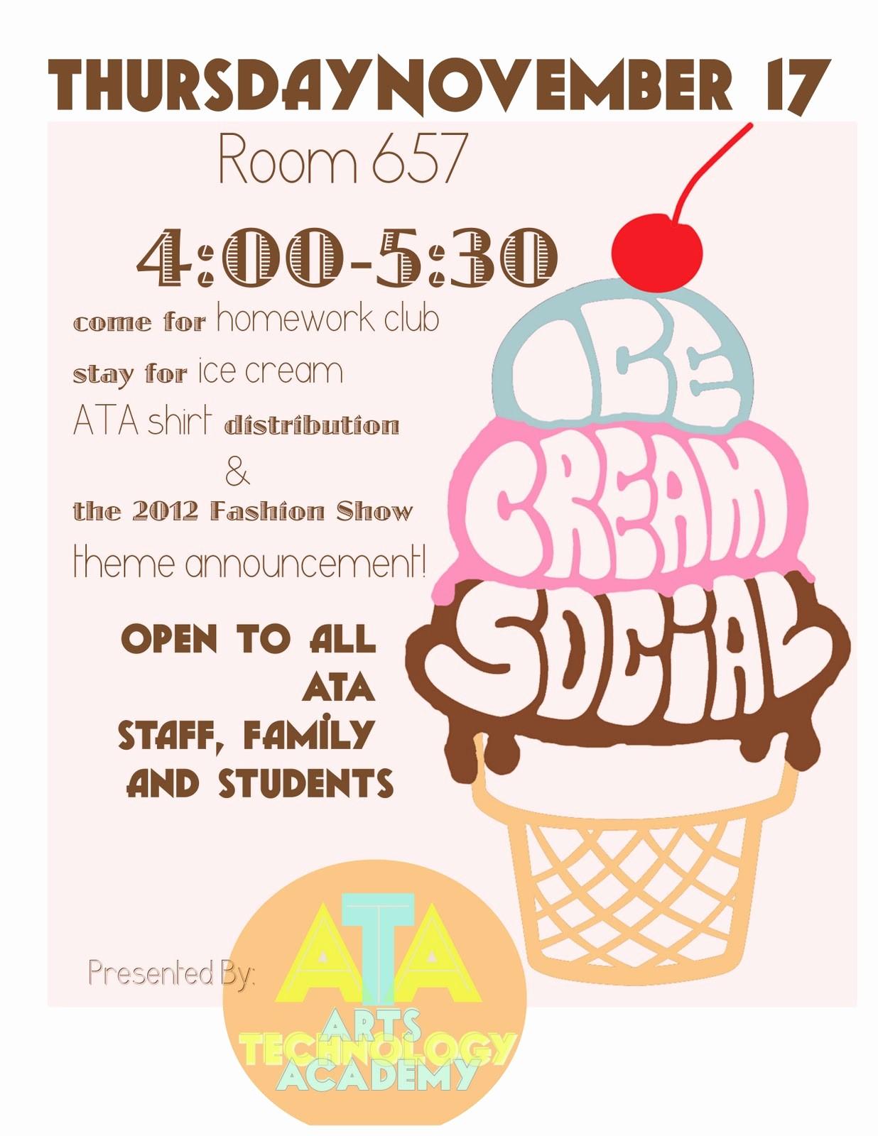 Free Ice Cream social Template Elegant Free Ice Cream social Invites