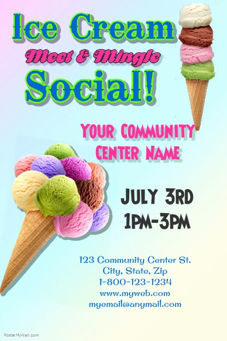 Free Ice Cream social Template Elegant Ice Cream social Template