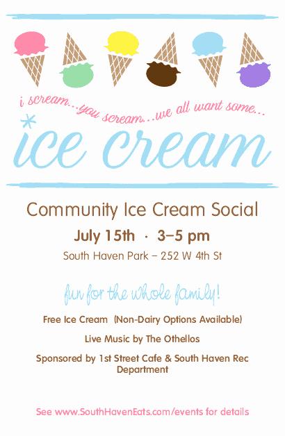 Free Ice Cream social Template Fresh Ice Cream social Flyer