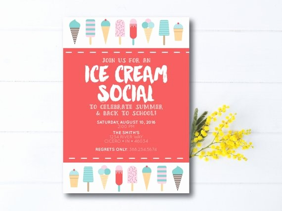Free Ice Cream social Template Fresh Instant Download Ice Cream social Invitation Ice Cream Party