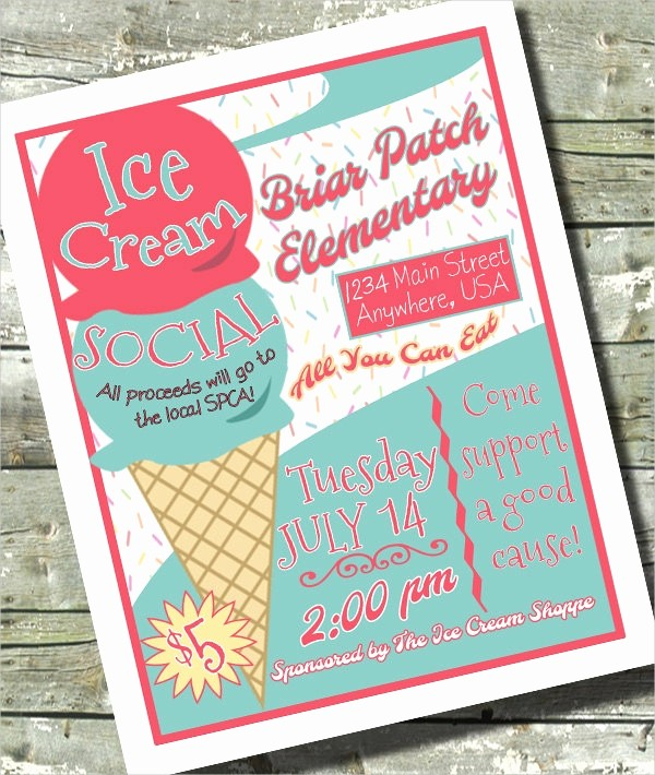 Free Ice Cream social Template Inspirational 19 Ice Cream Flyer Templates Free Psd Ai Vector Eps
