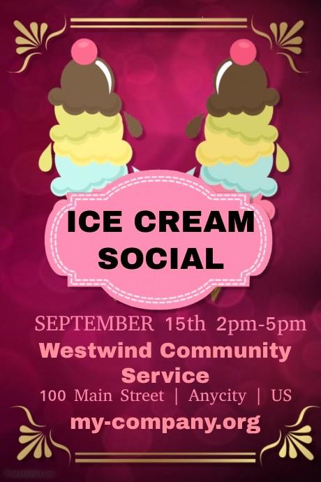 Free Ice Cream social Template Inspirational Ice Cream social Template