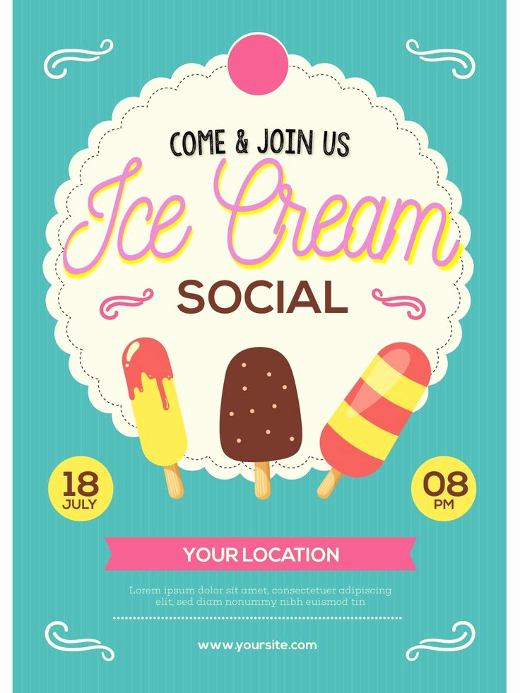 Free Ice Cream social Template Lovely A Fully Customizable Flyer You Can Use to Promote An Ice