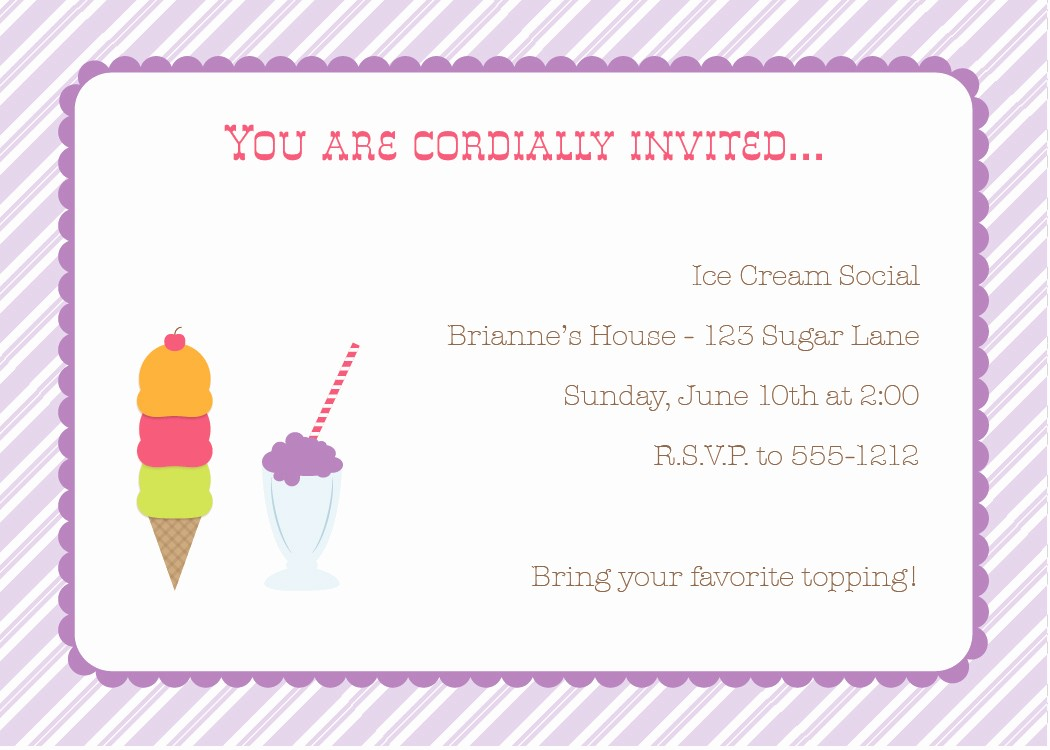 Free Ice Cream social Template Lovely New Release Thursday Ice Cream social Party Pack