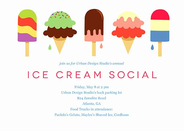 Free Ice Cream social Template New Fice Party Invitations