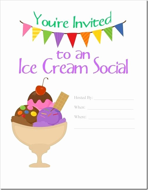 Free Ice Cream social Template Unique 7 Best Images About Work events On Pinterest