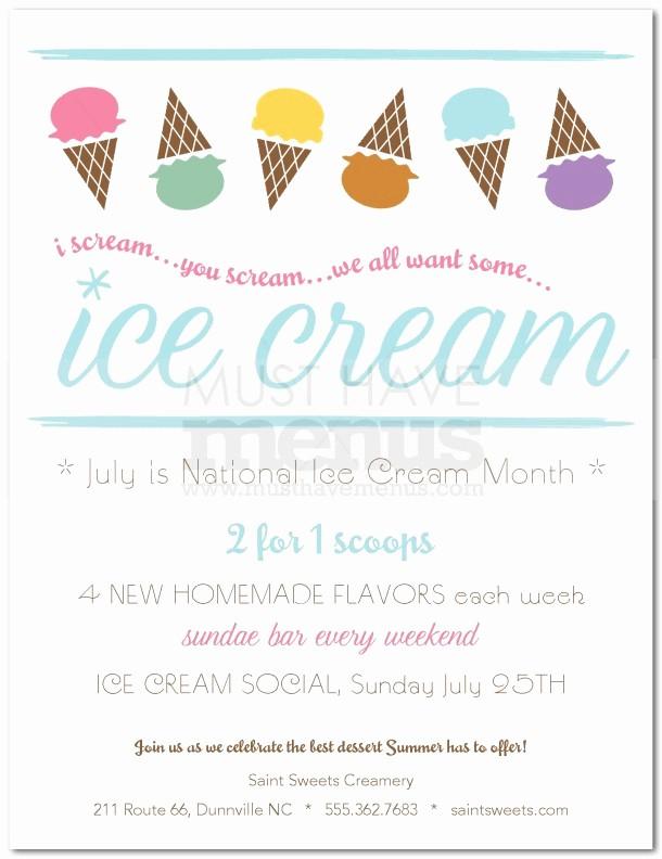 Free Ice Cream social Template Unique Ice Cream social Flyer Word Template Free Smartrenotahoe