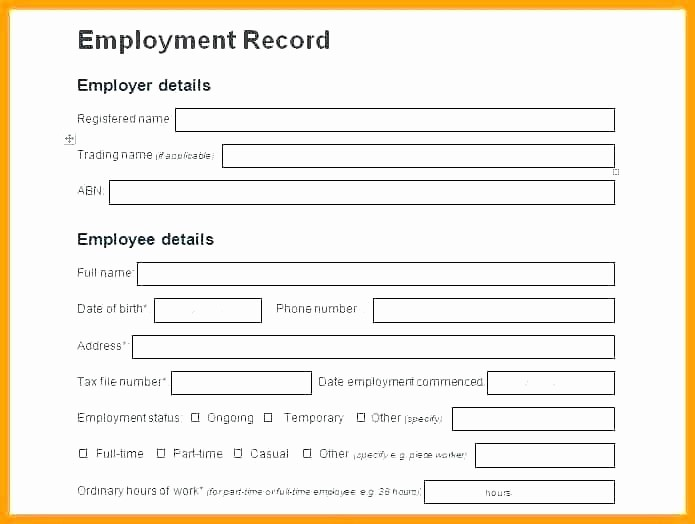 Free Individual Payroll Record form Awesome Payroll Record Template Sample Absence Record Sheet