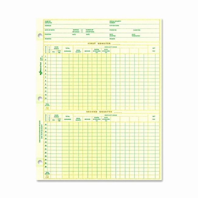 Free Individual Payroll Record form Beautiful Printer