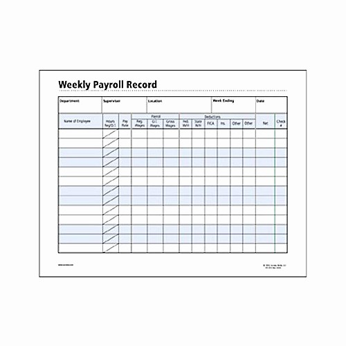 Free Individual Payroll Record form Beautiful socrates Weekly Payroll Record form somhr120 Shoplet