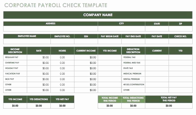 Free Individual Payroll Record form Best Of Payroll Record Template