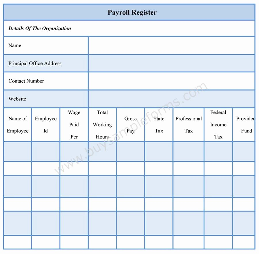 Free Individual Payroll Record form Best Of Payroll Register forms