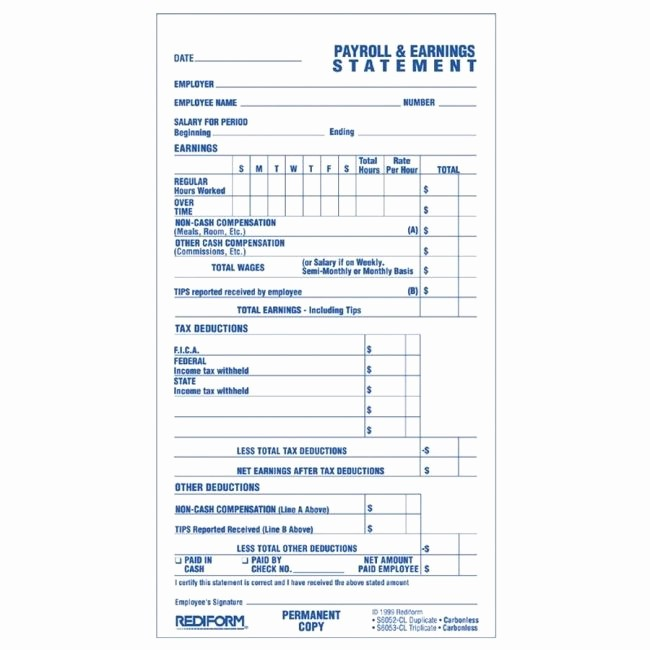 Free Individual Payroll Record form Inspirational Printer
