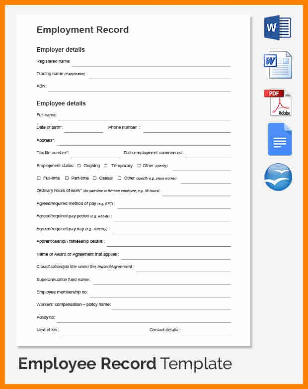 Free Individual Payroll Record form Luxury 6 Individual Payroll Record Template