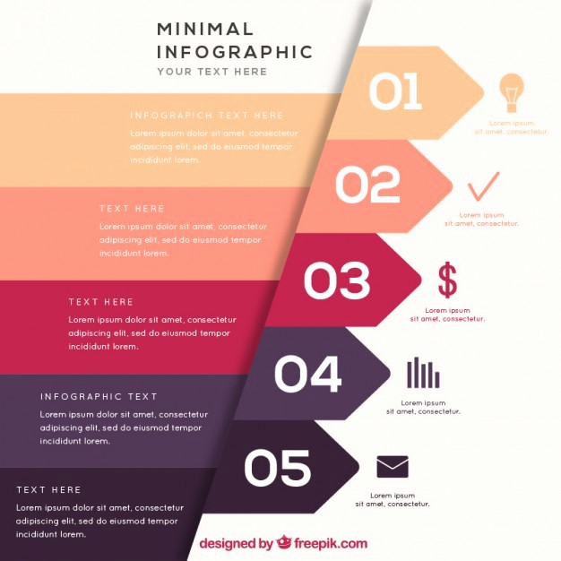 Free Infographic Templates for Word Awesome Minimal Infographic Vectors S and Psd Files