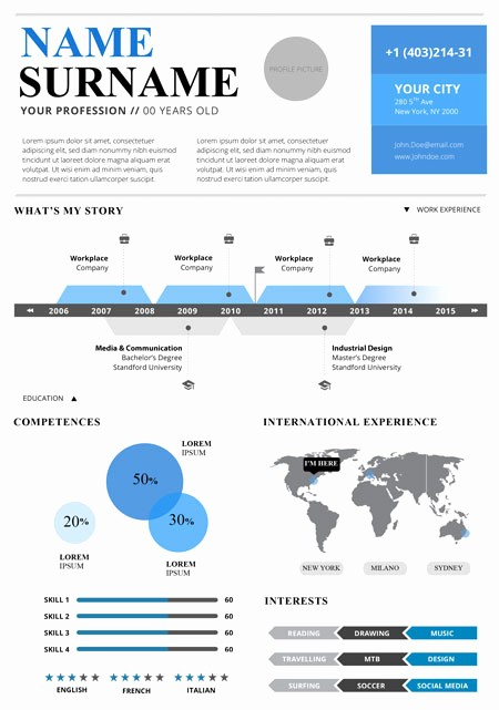 Free Infographic Templates for Word Elegant top 5 Infographic Resume Templates