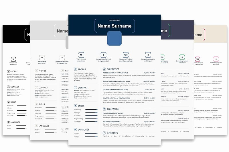 Free Infographic Templates for Word Fresh top 5 Infographic Resume Templates