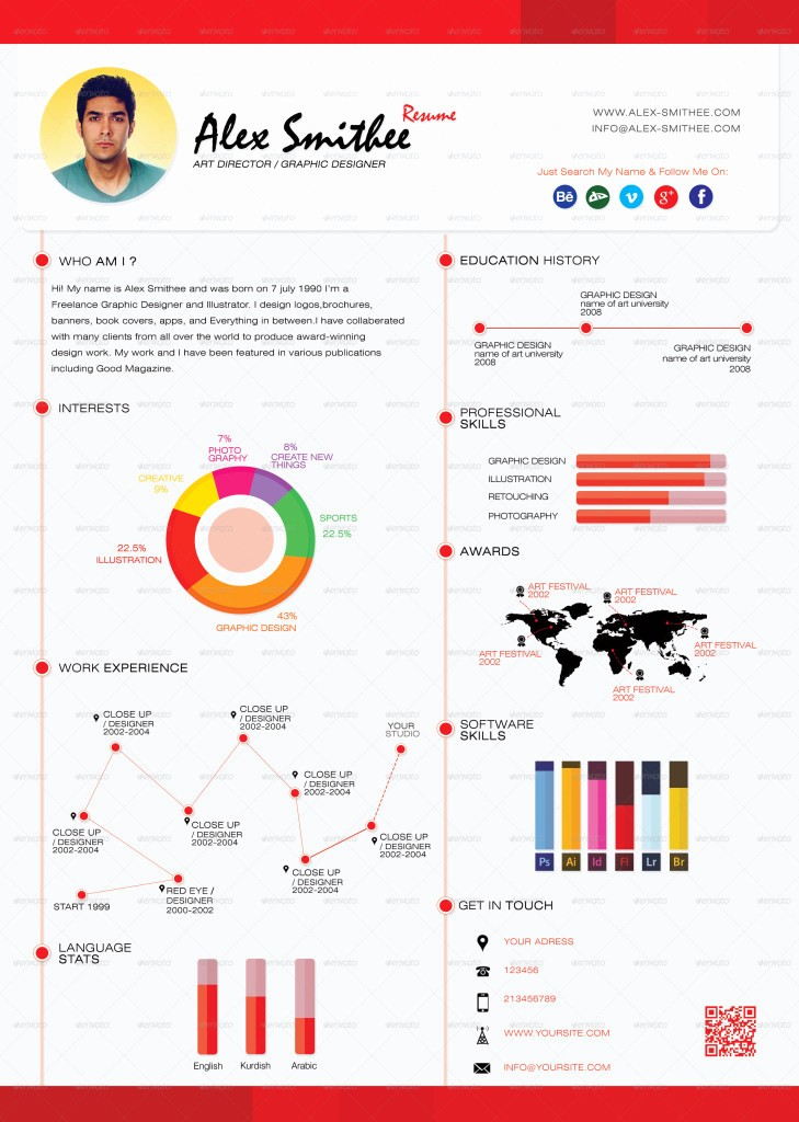 Free Infographic Templates for Word Inspirational top 5 Infographic Resume Templates