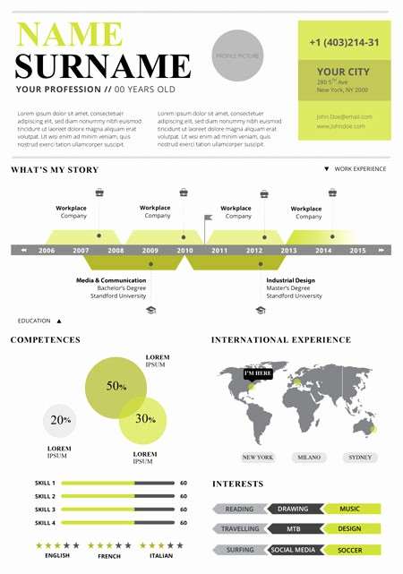 Free Infographic Templates for Word Luxury Infographic Resume Template Free