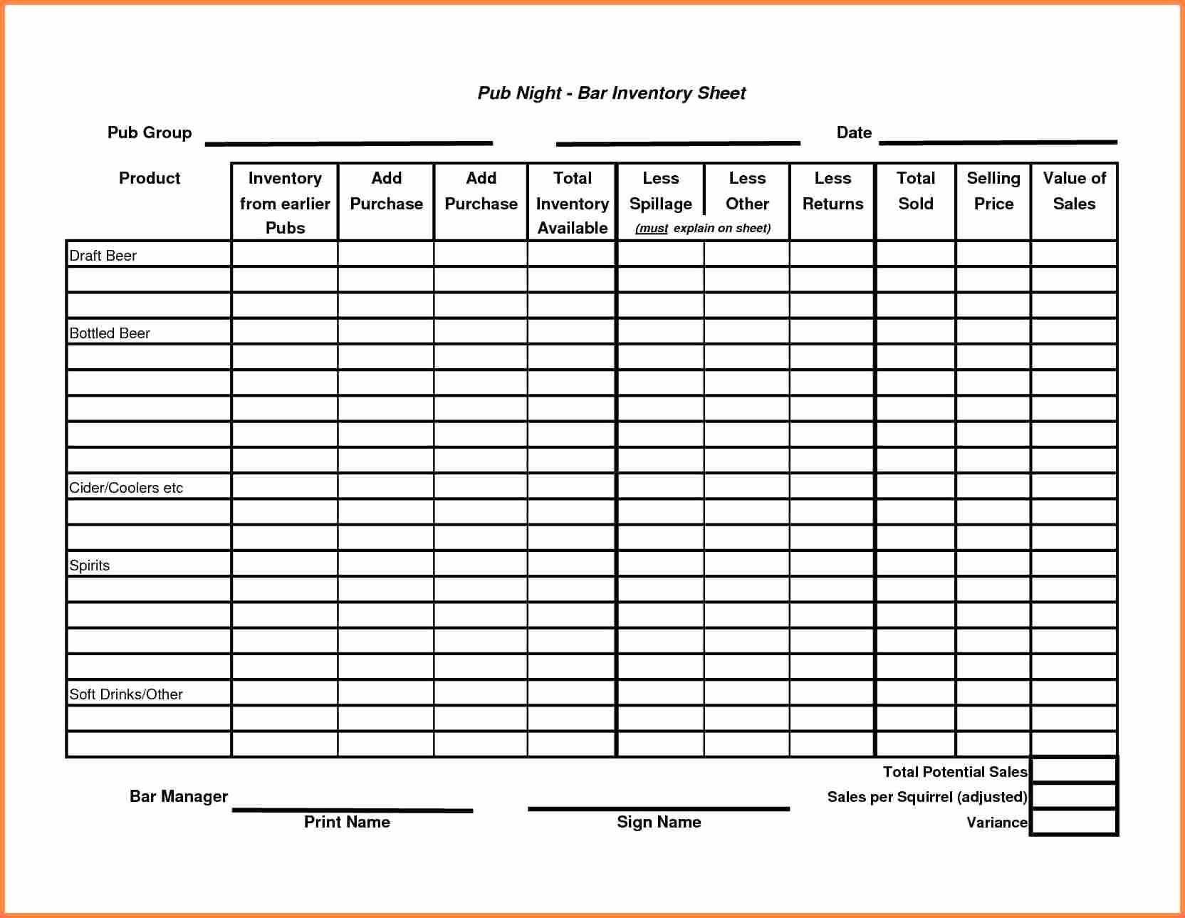 Free Inventory Sheets to Print Best Of Sample Inventory Sheet Bamboodownunder