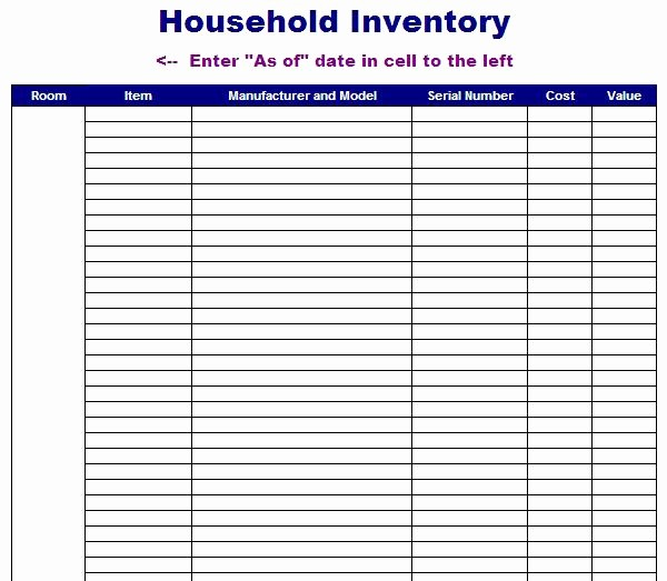 Free Inventory Sheets to Print Fresh 8 Best Of Printable Inventory Template Free