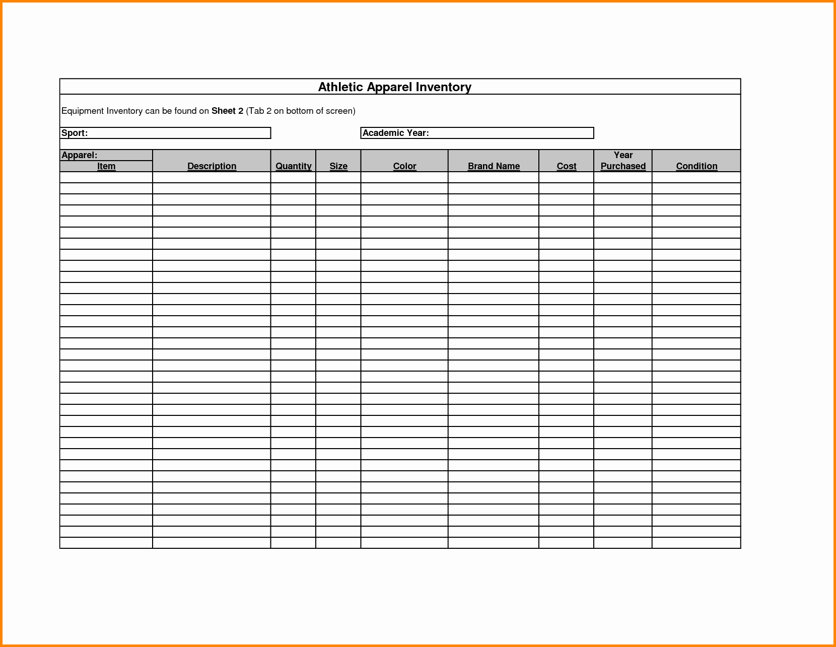 Free Inventory Sheets to Print Fresh Inventory Spreadsheet Template Spreadsheet Templates for