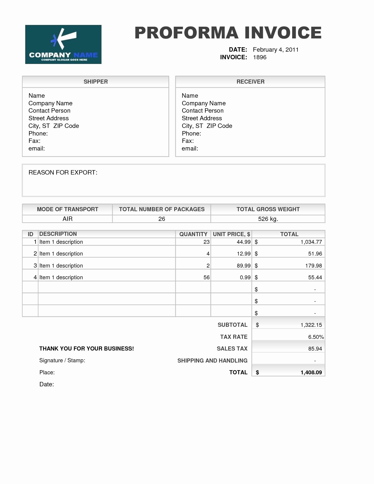 Free Invoice format In Word Awesome Samples Of Proforma Invoice Invoice Template Free 2016