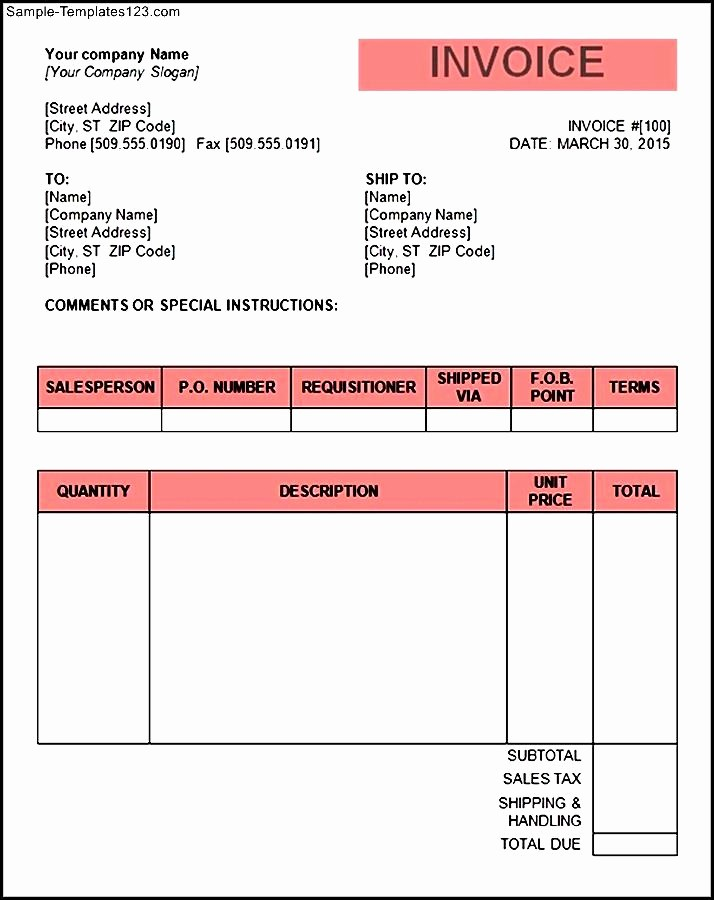 Free Invoice format In Word Luxury Tax Invoice Template Word Doc