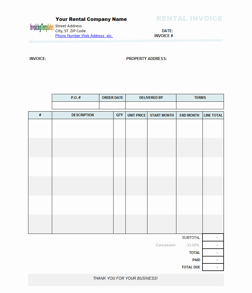 Free Invoice format In Word New Rental Invoice Template Word