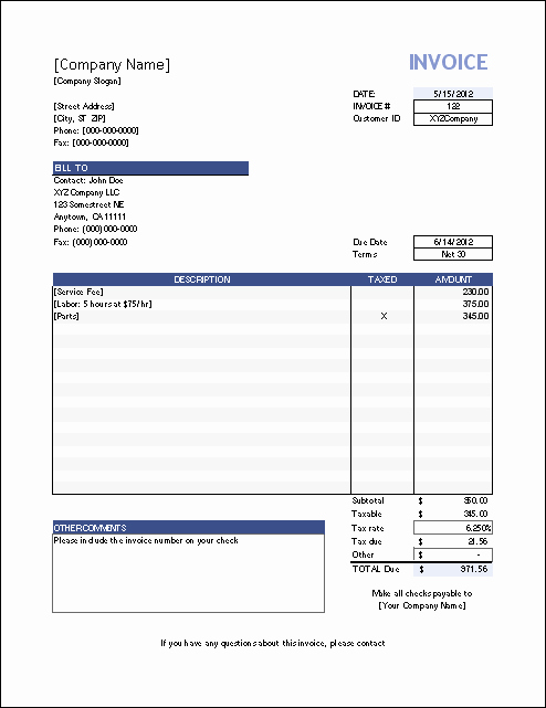 Free Invoice Template for Excel New Vertex42 Invoice assistant Invoice Manager for Excel