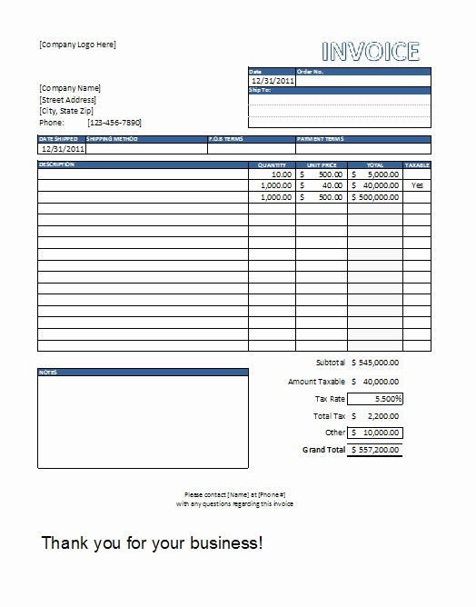 Free Invoice Template for Excel Unique Editable Invoice Template Excel