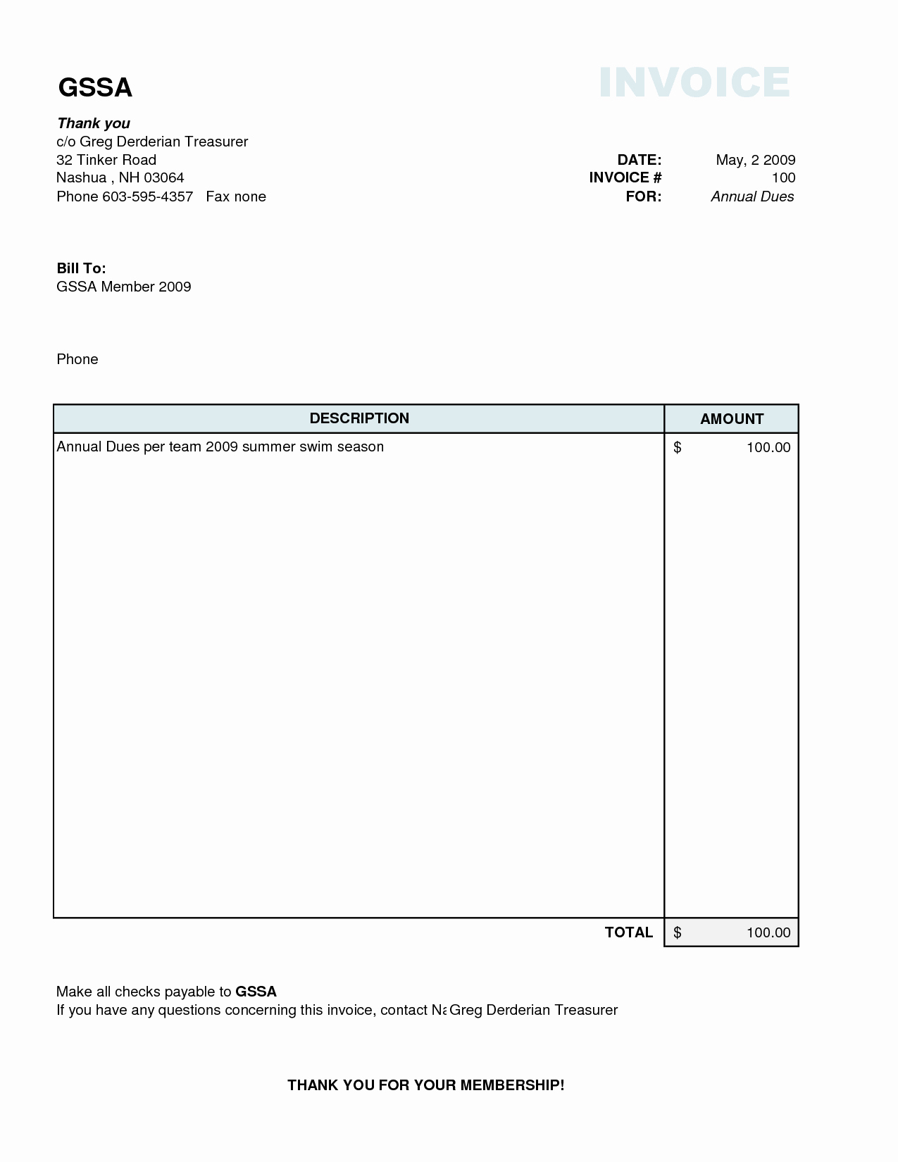 Free Invoice Template for Excel Unique Simple Invoice Example