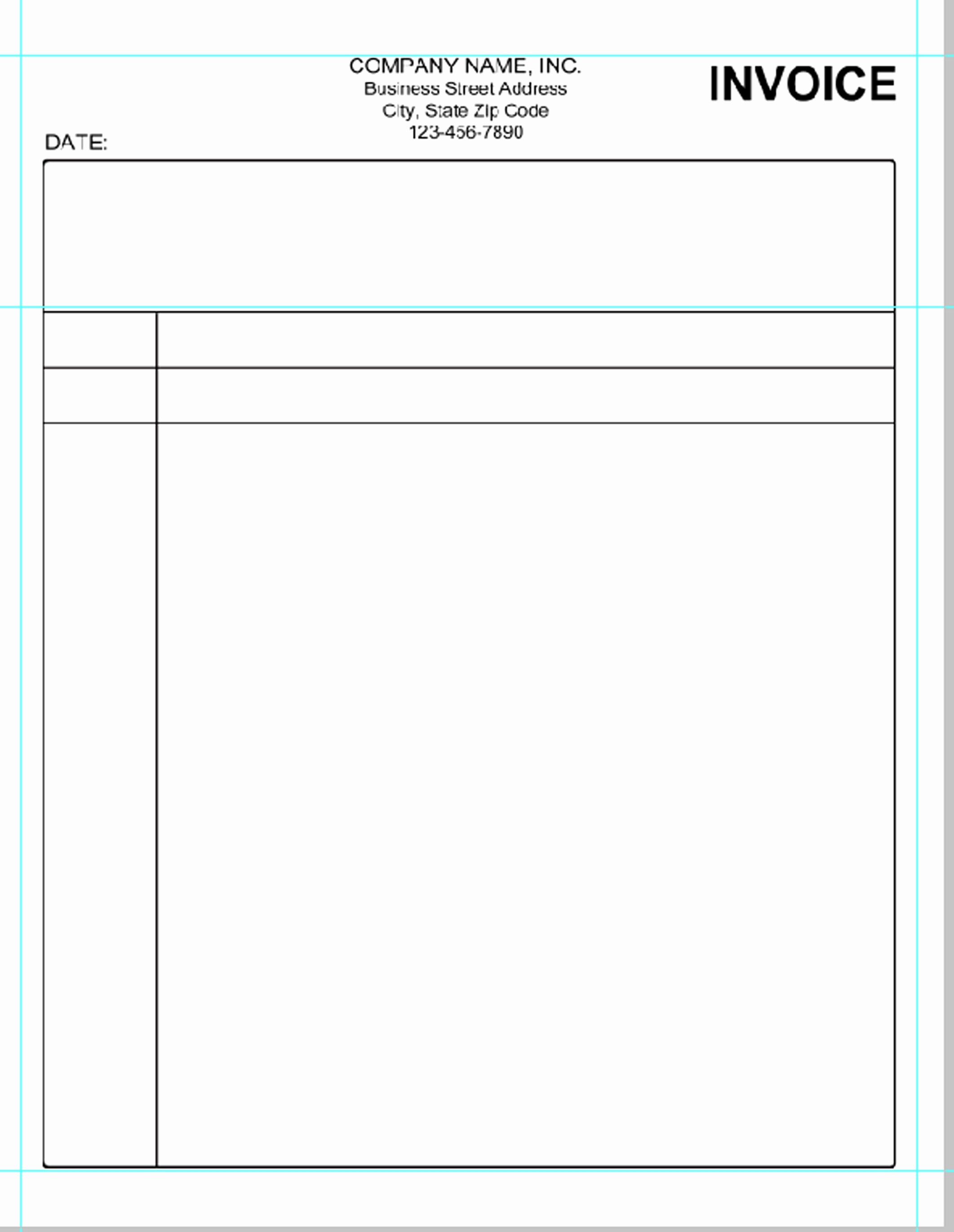 Free Invoice Template for Word Fresh Simple Invoice Template Microsoft Word Invoice Template