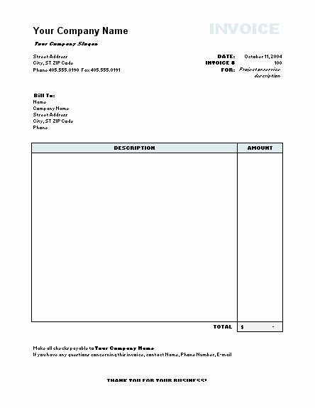 Free Invoice Template for Word Unique Invoice Model Word