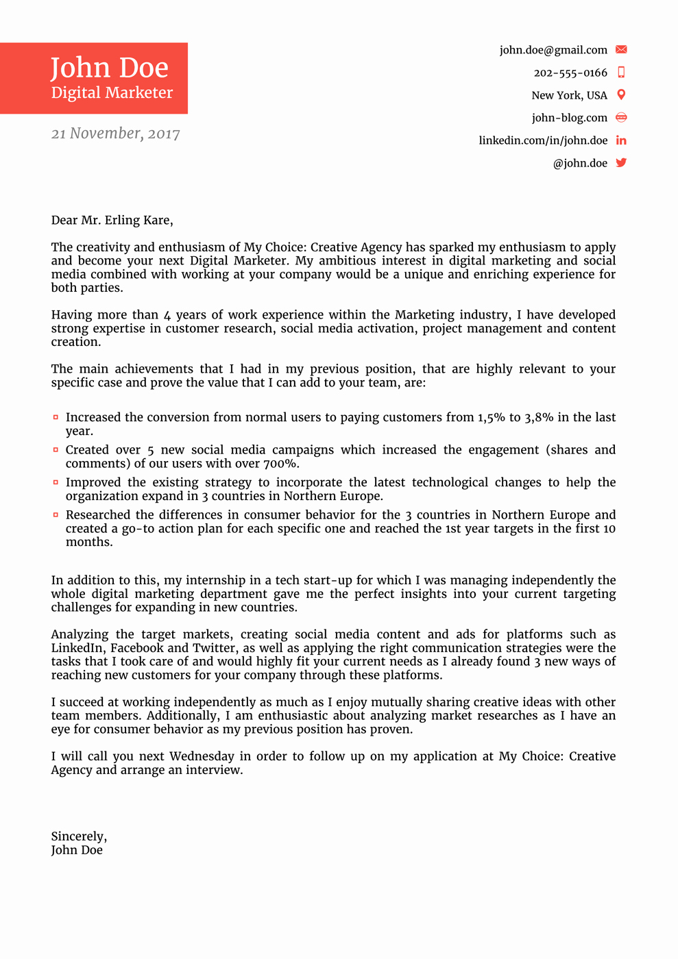 Free Job Cover Letter Template Best Of Cover Letter Templates for 2019