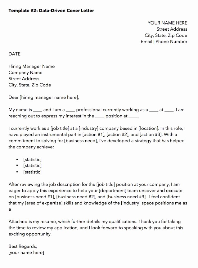 Free Job Cover Letter Template Elegant 10 Cover Letter Templates to Perfect Your Next Job Application