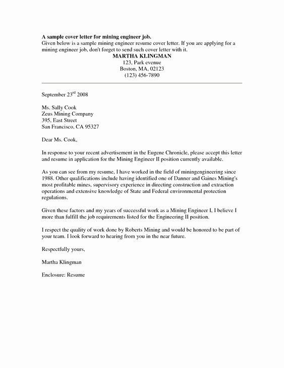 Free Job Cover Letter Template Inspirational Cover Letter Sample Free Sample Job Cover Letter for