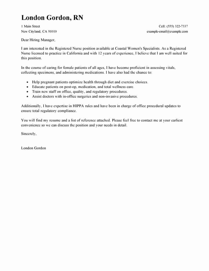 Free Job Cover Letter Template Luxury Free Cover Letter Examples for Every Job Search