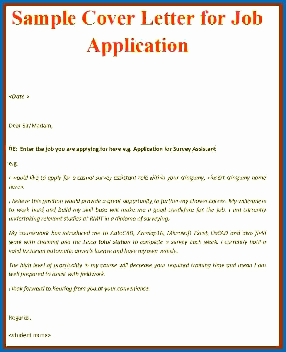 Free Job Cover Letter Template New Cover Letter Writing format Employment Cover Letter Sample