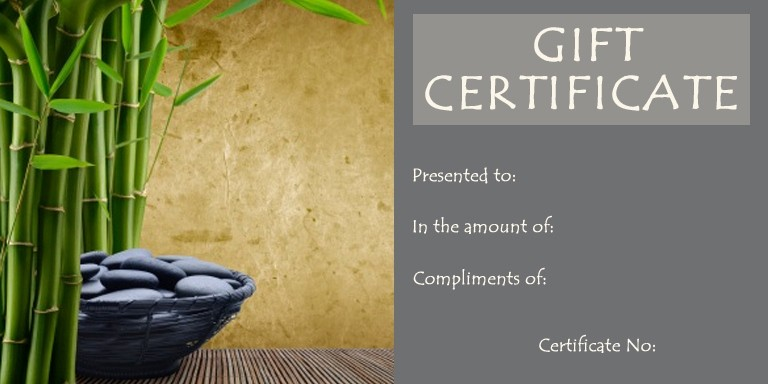 Free Massage Gift Certificate Template Awesome Free Spa Gift Certificate Template Invitation Template