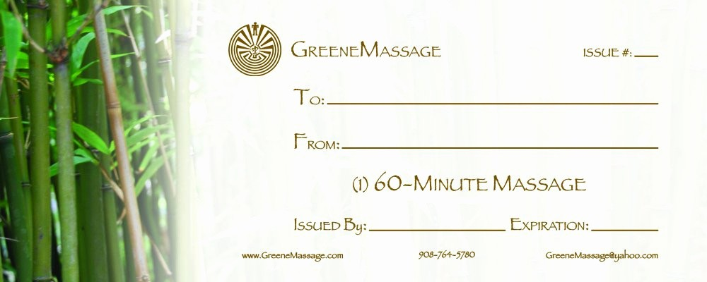 Free Massage Gift Certificate Template Beautiful Massage Gift Certificate Templates